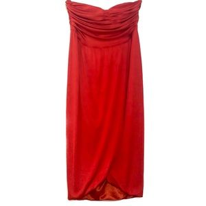 MARCIANO Red Strapless Cocktail Dress